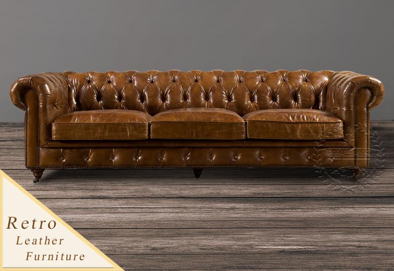 Antique Leather Sofa
